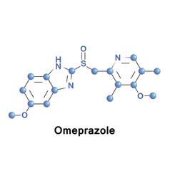 Omeprazole medication ulser vector