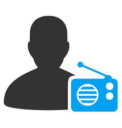 Radio dictor flat icon vector