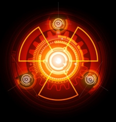 radioactive techno gears vector image