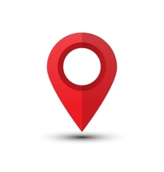 Red map pointer vector