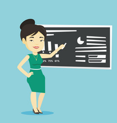 teacher writing on a chalkboard vector image