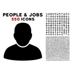 User icon with bonus vector