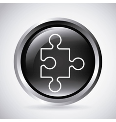 Puzzle button silhouette icon design vector