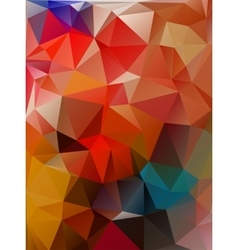 Abstract 2d geometrical colorful background vector