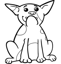french bulldog cartoon for coloring vector image
