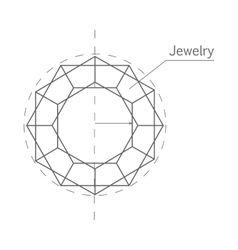 Jewelry production sketch isolated precious stone vector