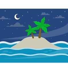 bg island moon vector image