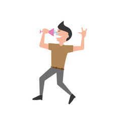 Man party dance celebration vector