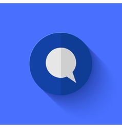 Modern flat blue circle icon vector