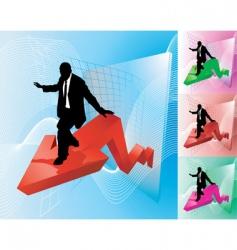 profit surfer business concept illustration vector image