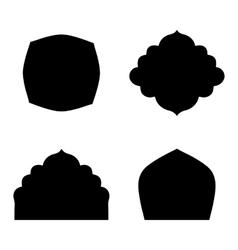 Set of farmes silhouette vector image
