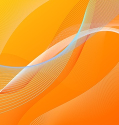 Abstract background with orange and blue lines vector image
