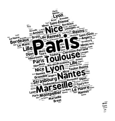 Cities of france word cloud vector