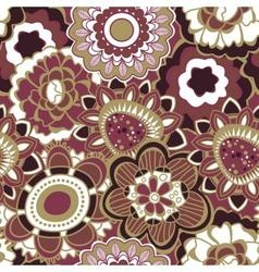 Floral seamless pattern in trendy marsala colors vector