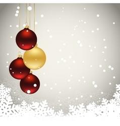 Three christmas balls vector
