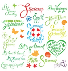Set summer calligraphy 380 vector