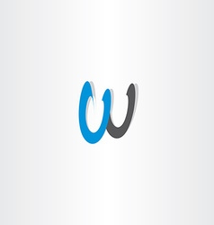 Letter w black blue sign symbol icon logotype vector