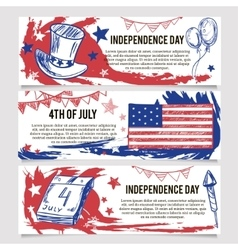 Independence Day Banners of 4th July vector image