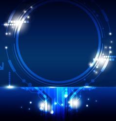 hi tech circle frame design vector image