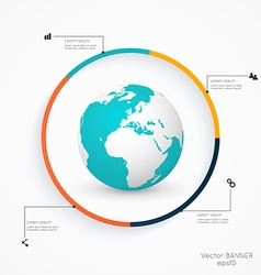 Abstract 3D digital Infographic vector image vector image