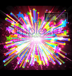 abstract starburst vector image vector image