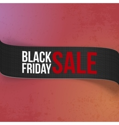Black friday sale promo ribbon for your design vector