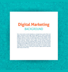 digital marketing paper template vector image