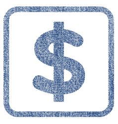 dollar fabric textured icon vector image