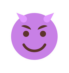 Evil smiling cartoon face emoji people emotion vector