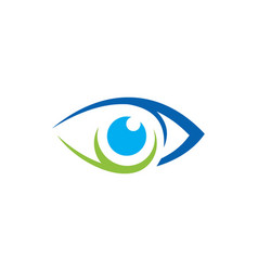 eye vision icon logo vector image