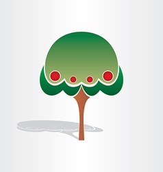 family tree symbol design vector image vector image