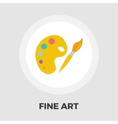 Fine Arts flat icon vector image