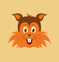 flat icons on theme funny animals puppy vector image