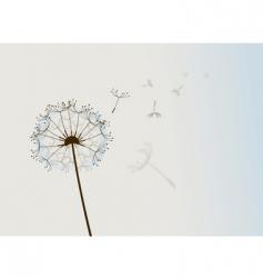 flower in wind vector image