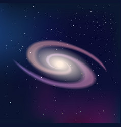 Galaxy on a dark night starry sky vector