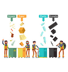 Garbage waste segregation for recycling vector