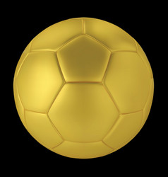 gold soccer ball on black background golden vector image vector image