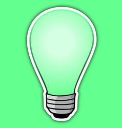 Green bulb vector