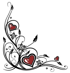 Hearts Tribal vector image vector image