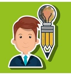 Man young idea icon vector