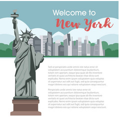 new york welcome poster for america travel tourism vector image