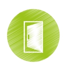 Open door icon vector