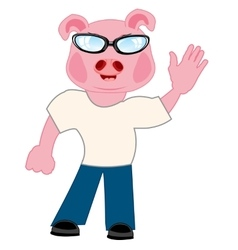 Persons with head piglet vector