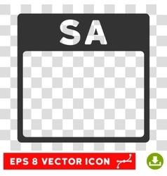 Saturday calendar page eps icon vector