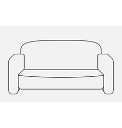 Schematically sofa modern flat style vector
