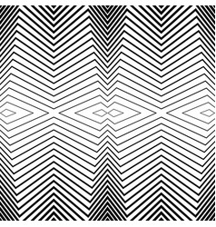 Seamless black and white pattern stripes vector