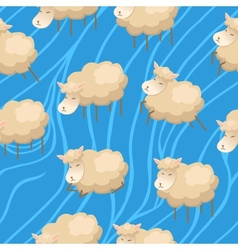 Seamless lambs clouds wallpaper vector