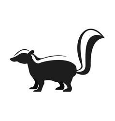 Skunk animal cartoon vector
