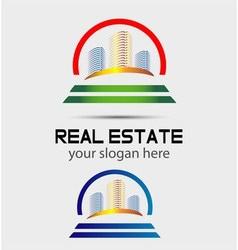 Skyscraper house logo vector image