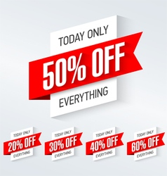 Today only one day super sale vector image vector image